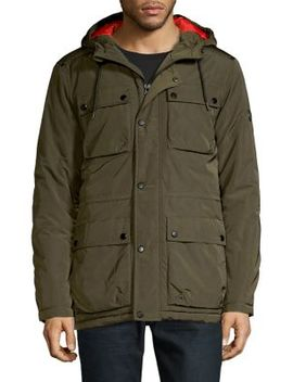 Hooded Military Jacket by Calvin Klein