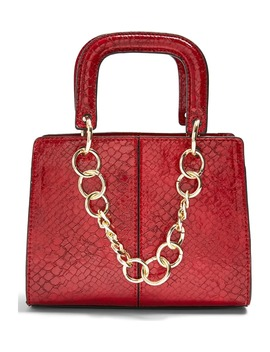 Case Chain Detail Faux Leather Crossbody Bag by Topshop
