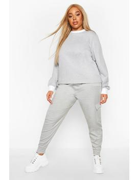 Plus Cargo Jogger by Boohoo