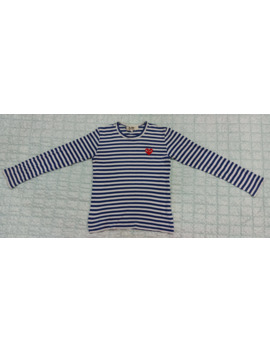 Comme Des Garcons Play Long Sleeve Stripe Crewneck by Comme Des Garcons  ×  Comme Des Garcons Play  ×