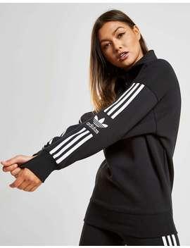 Adidas Originals 3 Stripes Lock Up 1/4 Zip Sweatshirt by Adidas Originals