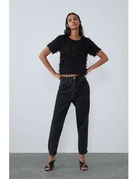 Fringe Textured Shirt by Zara