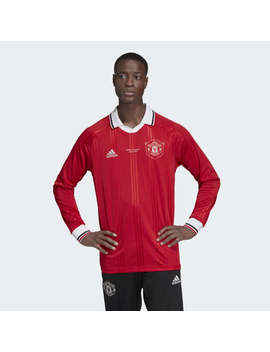 Manchester United Icon Long Sleeve Top by Adidas
