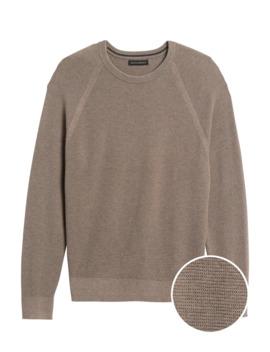Supima® Cotton Waffle Knit Sweater by Banana Repbulic