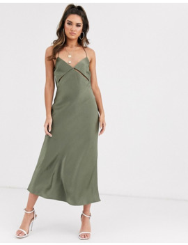 Bec & Bridge Mila Cut Out Midi Slip Dress by Bec & Bridge