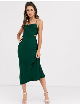 Bec & Bridge Exclusive Emerald Midi Slip Dress by Bec & Bridge