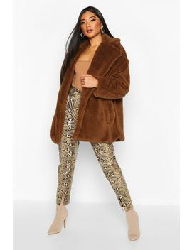 Oversized Teddy Faux Fur Jacket by Boohoo