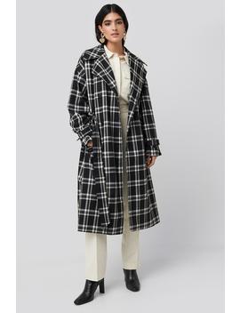 Plaid Oversized Belted Coat Sort by Nakdclassic