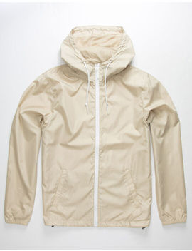 Independent Trading Company Lightweight Khaki Mens Windbreaker Jacket by Independent Trading Company
