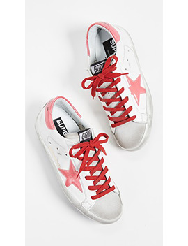 Superstar Sneakers In White/Ice/Pink Pvc by Golden Goose
