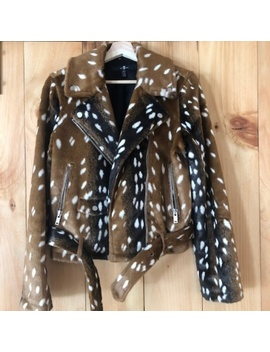 7 For All Mankind Faux Fur Fawn Jacket   Medium Preowned/Used by 7 For All Mankind