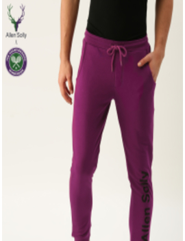 Purple Jogger Track Pants by Allen Solly Sport