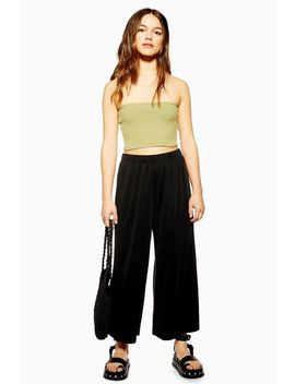 Petite Cupro Wide Leg Trousers by Topshop
