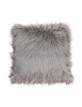 Keller Faux Mongolian Reverse To Micromink Throw Pillow   Décor Therapy by Decor Therapy