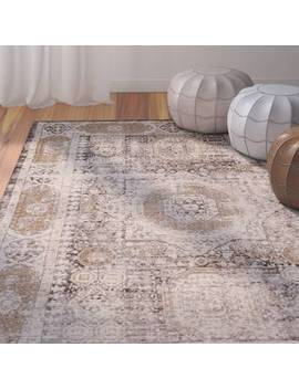 Hamza Handwoven Flatweave Cotton Medium Gray/Taupe Area Rug by Bungalow Rose