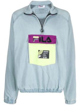 Contrast Logo Sweatshirt by Fila