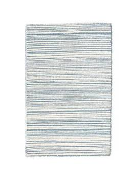 Melange Diamond Handwoven Flatweave Cotton Blue Area Rug by Dash And Albert Rugs