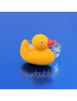 Funky Rubber Ducky Ring Cute Kitsch Novelty Kawaii Retro Duck Animal Fun Bird Uk by Ebay Seller