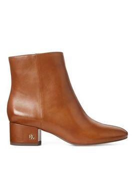 Welford Leather Bootie by Lauren Ralph Lauren
