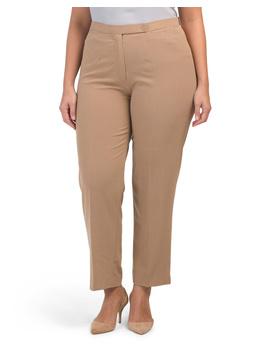 Plus Comfort Waist Classic Fit Pants by Tj Maxx