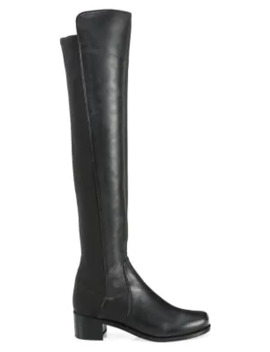 Reserve Leather Over The Knee Boots by Stuart Weitzman