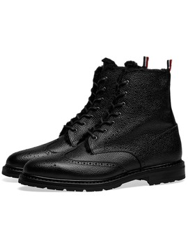 Thom Browne Shearling Lined Classic Wingtip Boot by Thom Browne