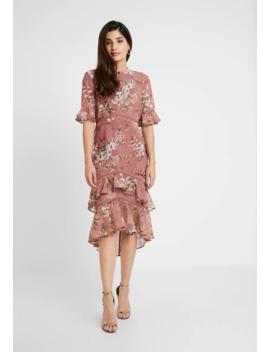 Fluted Sleeve Midi Dress   Sukienka Koktajlowa by Hope & Ivy Petite