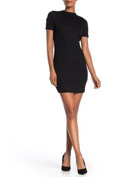 Lottie Solid Rib Knit Mini Dress by Cotton On