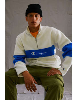 Champion Sherpa Quarter Zip Sweatshirt by Champion