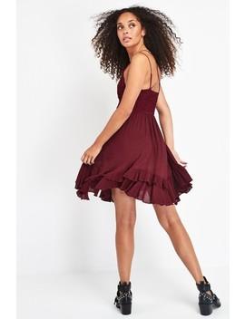 Free People Burgundy Adella Lace Slip Dress by Next
