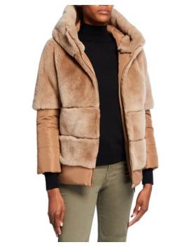 Annabelle New York Alice Rex Rabbit Puffer Jacket by Annabelle New York