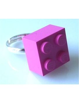 Lego Brick Expandable Silver Plated Ring   Handmade By Me   Kitsch Fun Retro by Ebay Seller