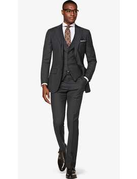 Lazio Mid Grey Stripe Suit by Suitsupply