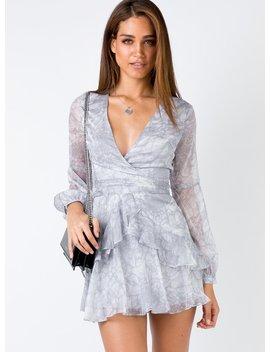 Emlina Mini Dress Grey by Princess Polly
