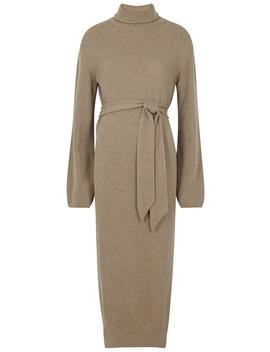Canaan Taupe Wool Blend Dress by Nanushka