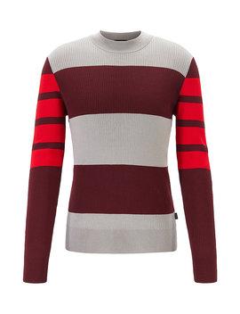 Slim Fit Crew Neck Sweater In Pure Cotton Slim Fit Crew Neck Sweater In Pure Cotton by Boss