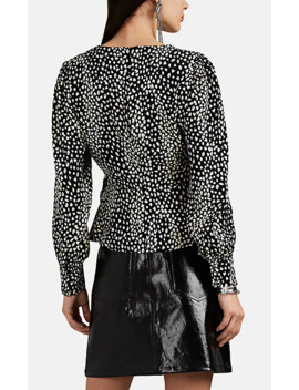 Leopard Jacquard Wrap Top by Five Seventy Five