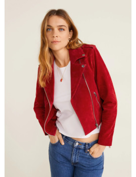 """<Font Style=""""Vertical Align: Inherit;""""><Font Style=""""Vertical Align: Inherit;"""">Leather Biker Jacket</Font></Font> by Mango"""