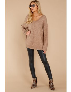 All Warmed Up Light Mocha Sweater by Loved + Adored