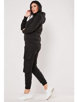Plus Size Black Double Pocket Cargo Joggers by Missguided