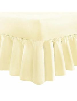 <Span><Span>Plain Dyed Fitted Valance Sheet Poly Cotton Bed Sheet Single Double & King Sizes</Span></Span> by Ebay Seller