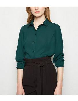Dark Green Long Sleeve Shirt by New Look