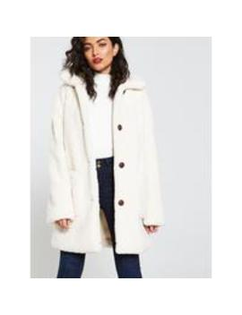 Teddy Worker Jacket   Ivory by V By Very