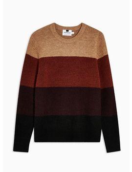 Rust Black Stripe Sweater by Topman