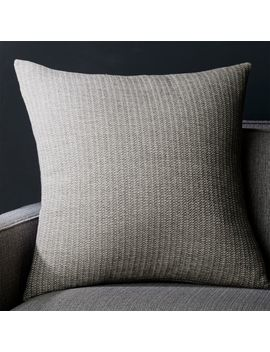 """Liano 23"""" Grey Monochrome Pillow With Feather Down Insert by Crate&Barrel"""