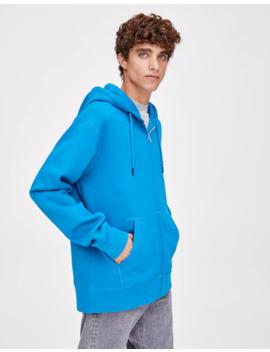 Sweatshirt Básica Com Fecho De Correr Metalizado by Pull & Bear
