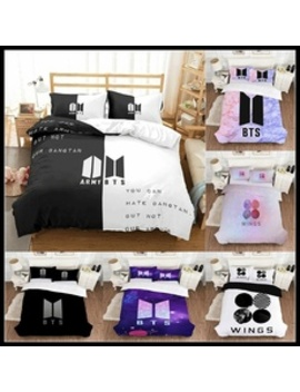 2019 New Kpop Bts Bangtan Boys Love Yourself Wings Album Cover For Comforter/Duvet/Quilt With Pillow Cover Bedding Set by Wish