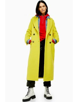 Yellow Coat With Wool by Topshop