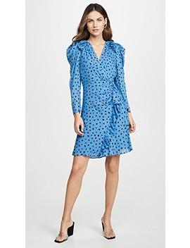 Long Sleeve Dot Wrap Dress by Rebecca Taylor