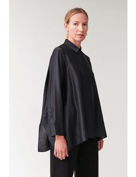 Crinkled Draped Shirt by Cos